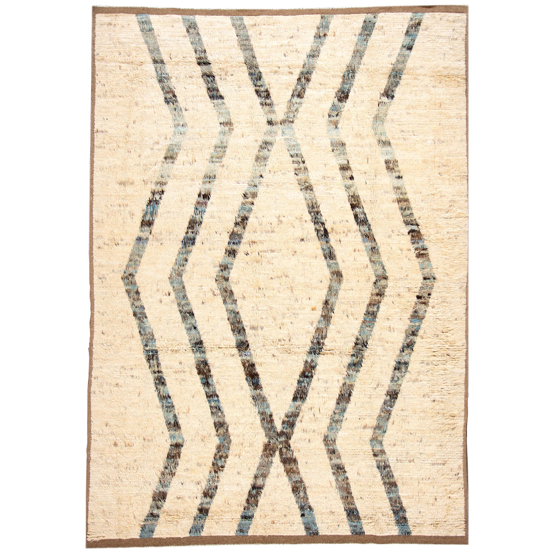 21st Century Modern Moroccan Style Wool Rug