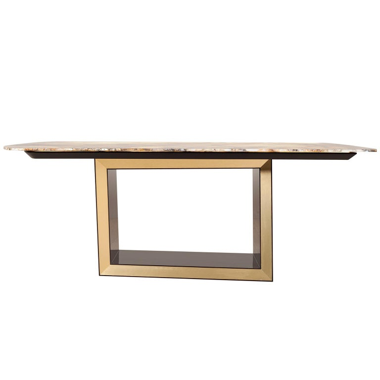 Portuguese 21st Century Modern Olisippo 6-Seat Table Handcrafted in Portugal by Greenapple For Sale