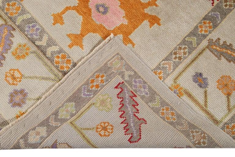 21st Century Modern Oushak Wool Rug For Sale 5