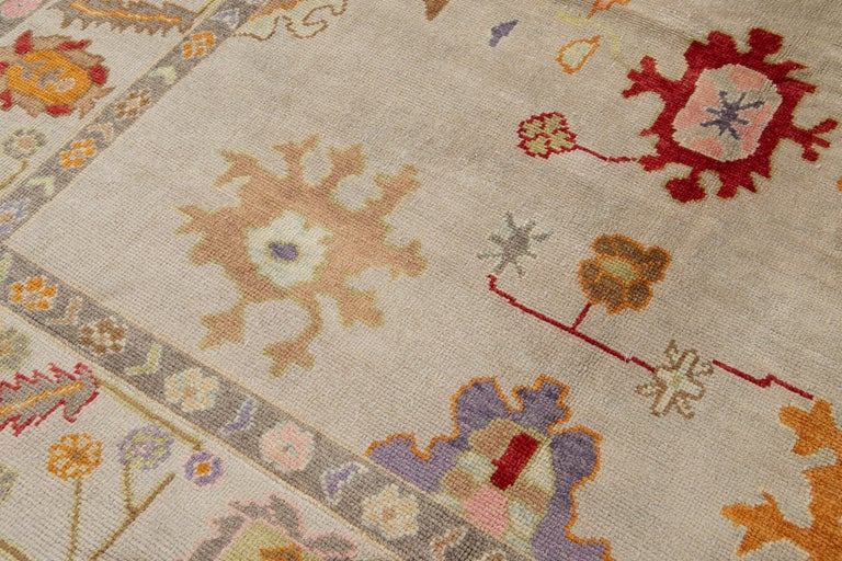Contemporary 21st Century Modern Oushak Wool Rug For Sale