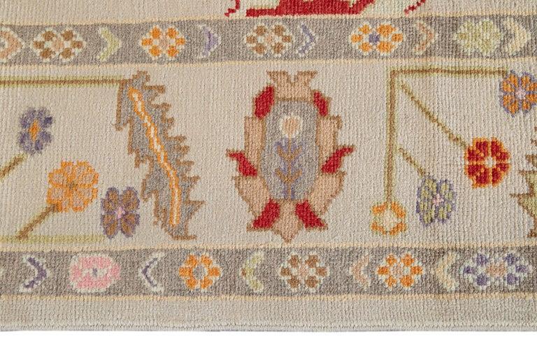 21st Century Modern Oushak Wool Rug For Sale 2