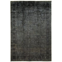 21st Century Modern Overdyed Wool Rug