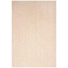 21st Century Modern Paddle Dhurrie Jute Carpet Rug by Kilombo Home Ivory