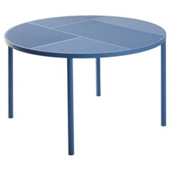 21st Century Modern Perforated Steel Round Table for Outdoor Neo Made in Italy