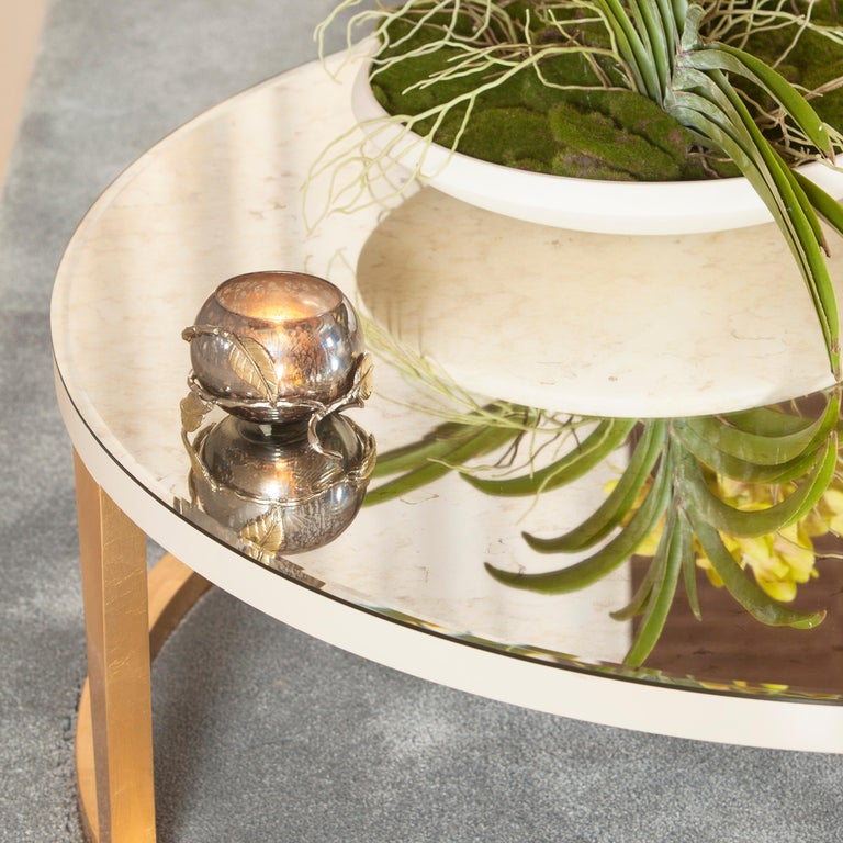 Contemporary 21st Century Art Deco Rubi Coffee Table Handcrafted in Portugal by Greenapple For Sale