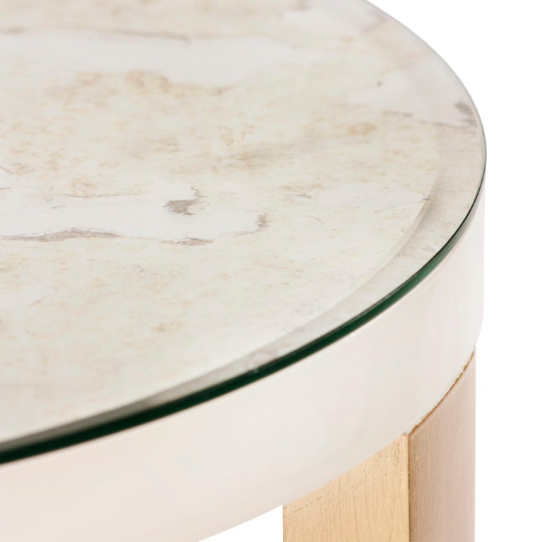 21st Century Art Deco Rubi Side Table Handcrafted in Portugal by Greenapple For Sale 3