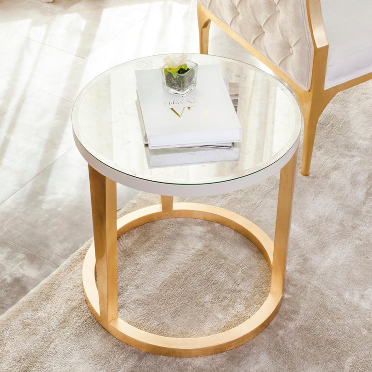 Brass 21st Century Art Deco Rubi Side Table Handcrafted in Portugal by Greenapple For Sale