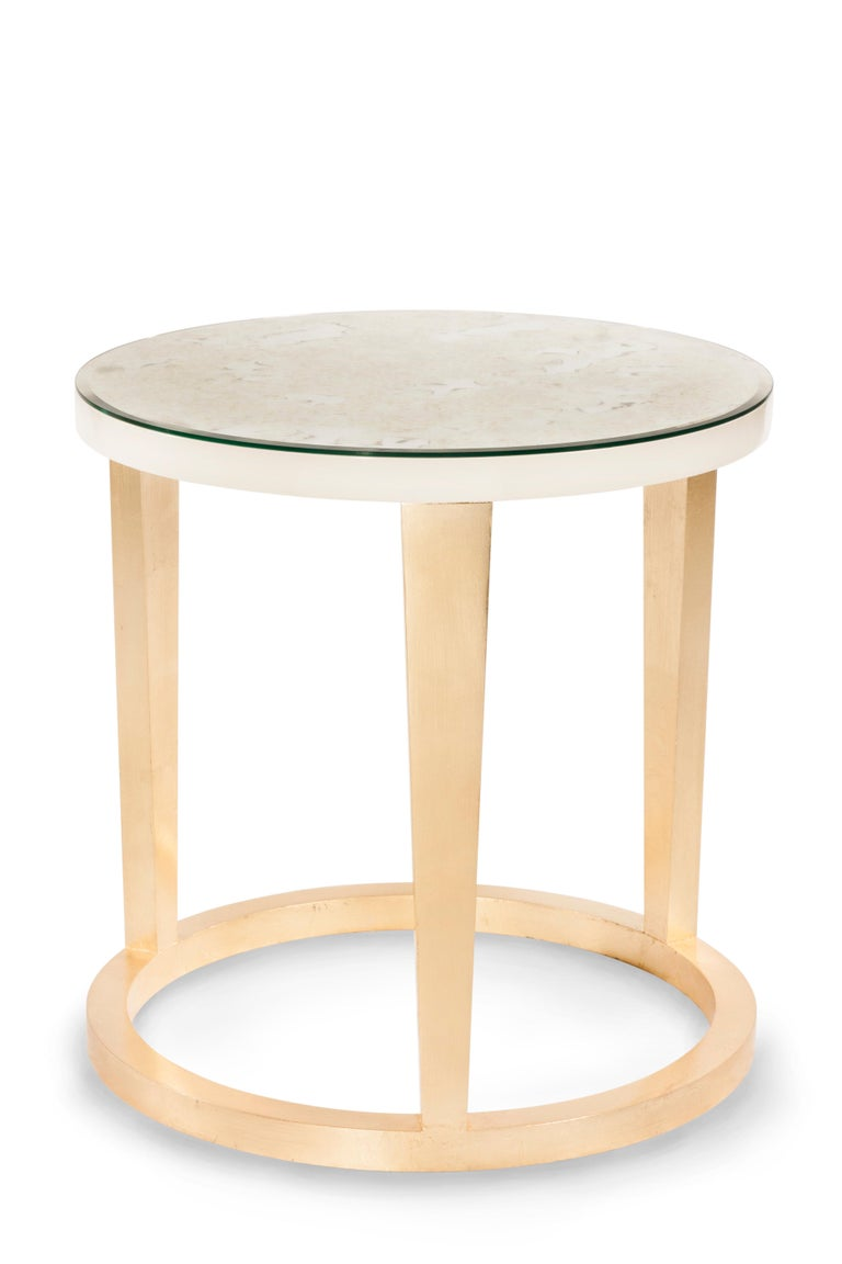 21st Century Art Deco Rubi Side Table Handcrafted in Portugal by Greenapple For Sale 2