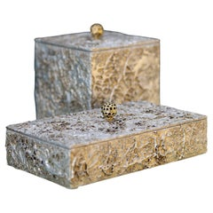 21st Century Modern Set of 2 Boxes Madagáscar Handcrafted Portugal by Greenapple