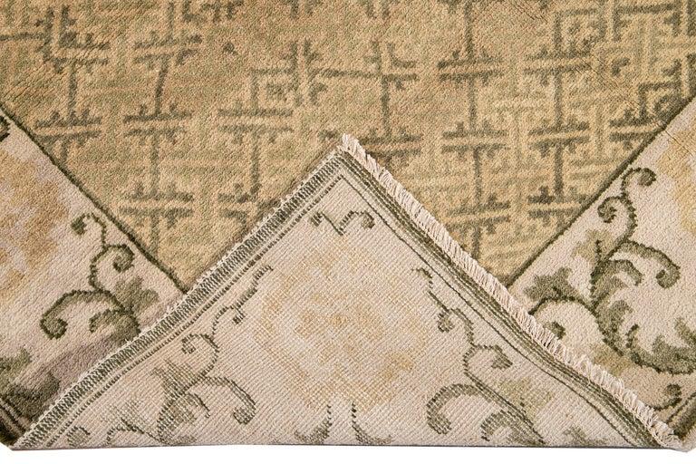 21st Century Modern Sino Wool Rug For Sale 5
