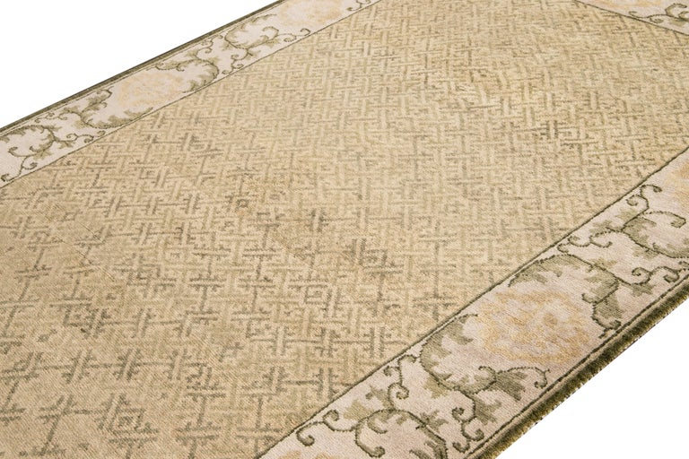21st Century Modern Sino Wool Rug In New Condition For Sale In Norwalk, CT