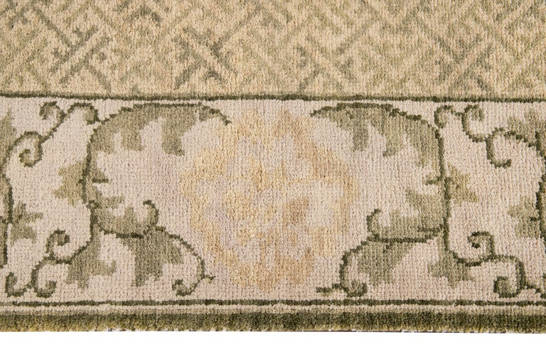 Contemporary 21st Century Modern Sino Wool Rug For Sale