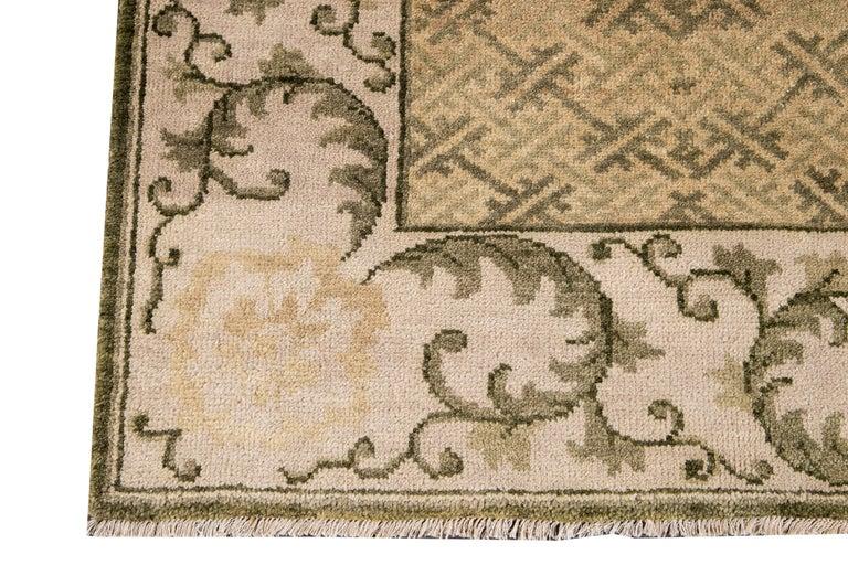 21st Century Modern Sino Wool Rug For Sale 2