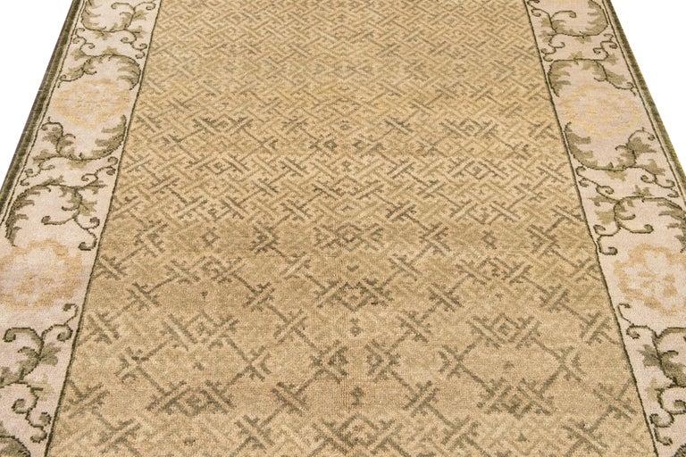 21st Century Modern Sino Wool Rug For Sale 3