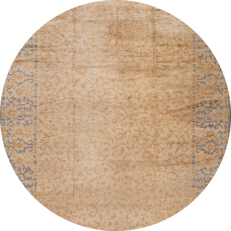 Hand-Knotted 21st Century Modern Spanish Sino Oversize Wool Rug For Sale