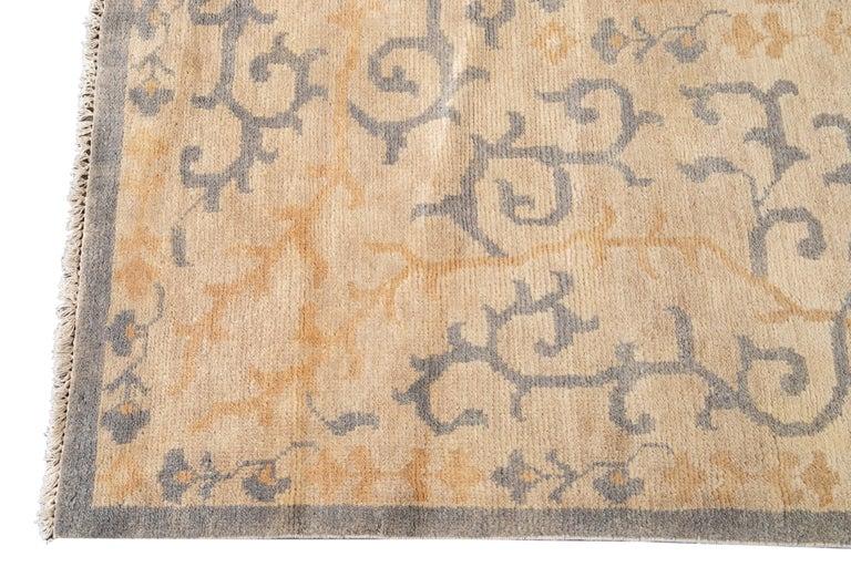 Contemporary 21st Century Modern Spanish Sino Oversize Wool Rug For Sale