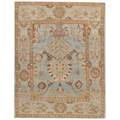 21st Century Modern Square Persian Sultanabad Rug