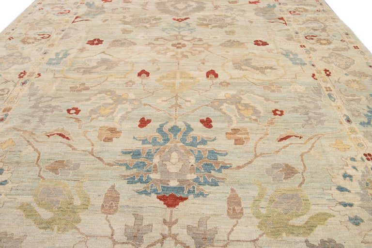 21st Century Modern Sultanabad Oversize Wool Rug For Sale 4