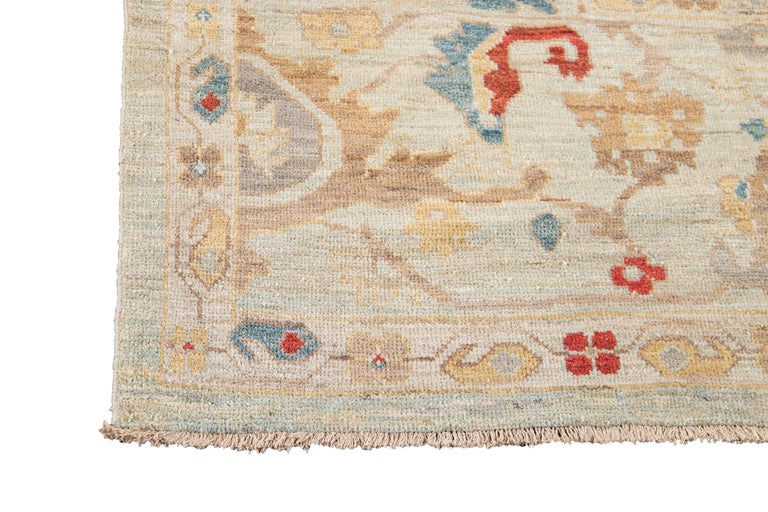 21st Century Modern Sultanabad Oversize Wool Rug For Sale 5