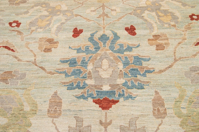 21st Century Modern Sultanabad Oversize Wool Rug For Sale 7