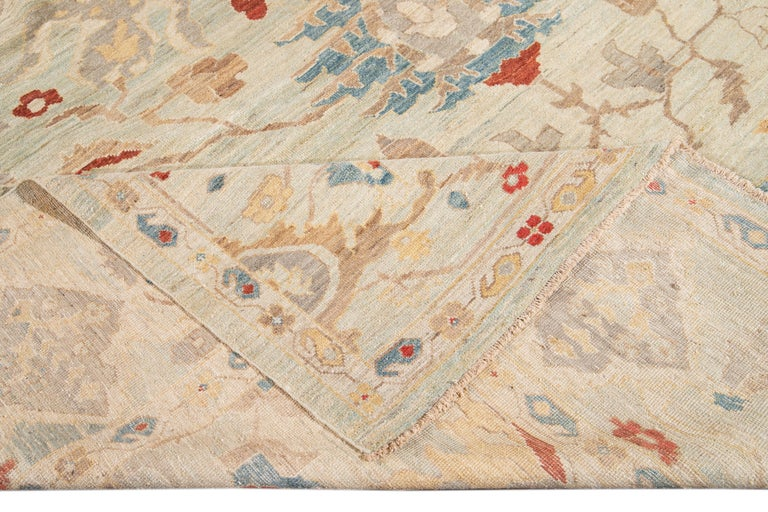 21st Century Modern Sultanabad Oversize Wool Rug For Sale 8