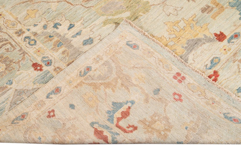 21st Century Modern Sultanabad Oversize Wool Rug For Sale 9