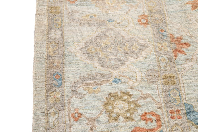 21st Century Modern Sultanabad Oversize Wool Rug For Sale 11