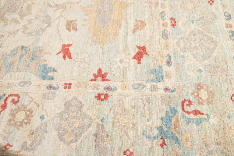 Contemporary 21st Century Modern Sultanabad Oversize Wool Rug For Sale