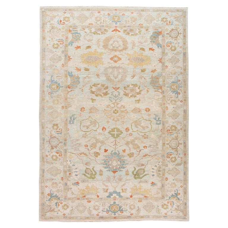 21st Century Modern Sultanabad Oversize Wool Rug For Sale