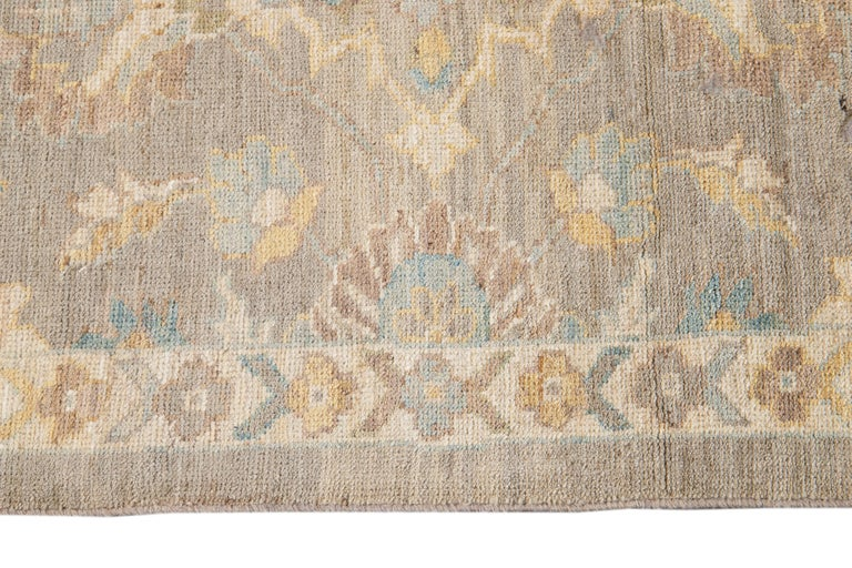 Persian 21st Century Modern Sultanabad Runner Rug For Sale