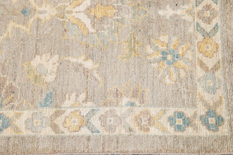 Hand-Knotted 21st Century Modern Sultanabad Runner Rug For Sale