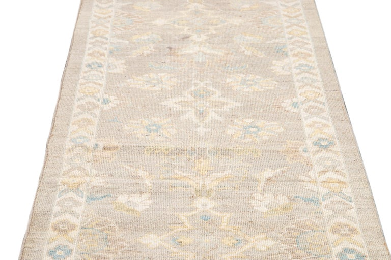 Contemporary 21st Century Modern Sultanabad Runner Rug For Sale