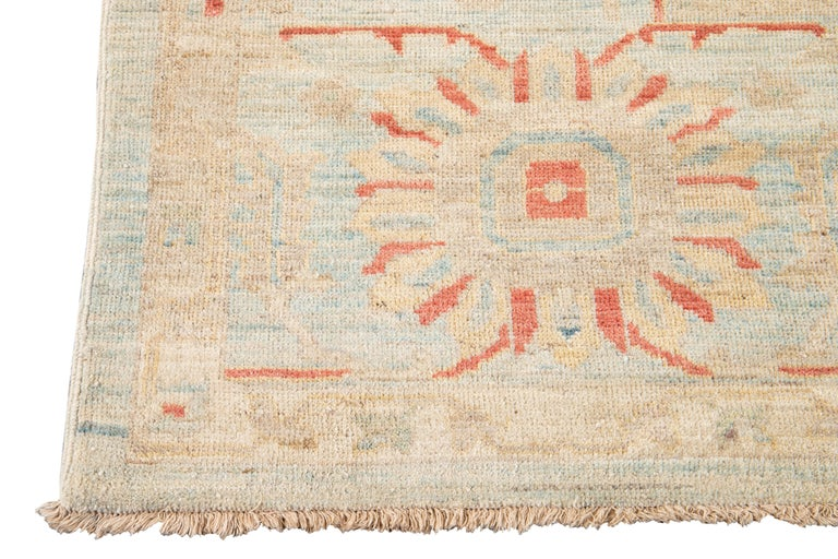 21st Century Modern Sultanabad Wool Rug For Sale 5