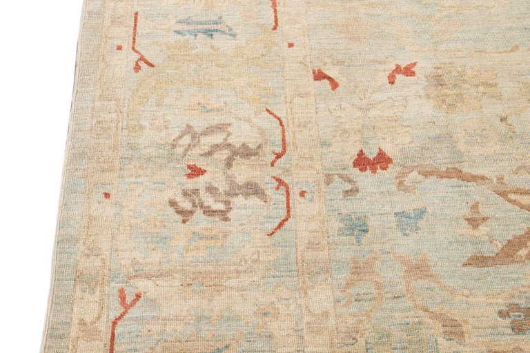 21st Century Modern Sultanabad Wool Rug For Sale 6