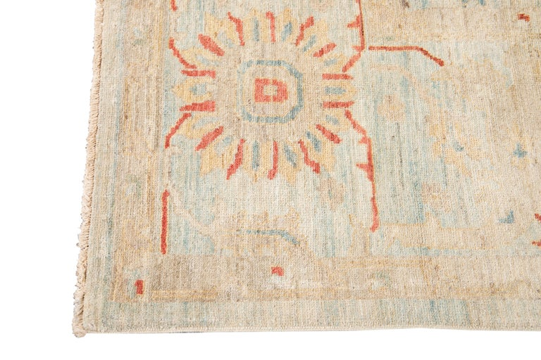Hand-Knotted 21st Century Modern Sultanabad Wool Rug For Sale