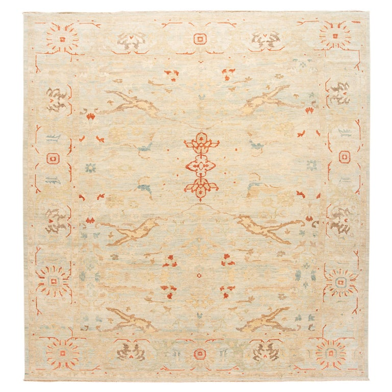 21st Century Modern Sultanabad Wool Rug For Sale