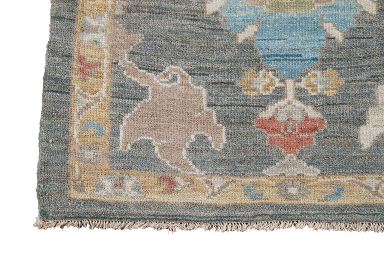 21st Century Modern Sultanabad Wool Runner For Sale 4