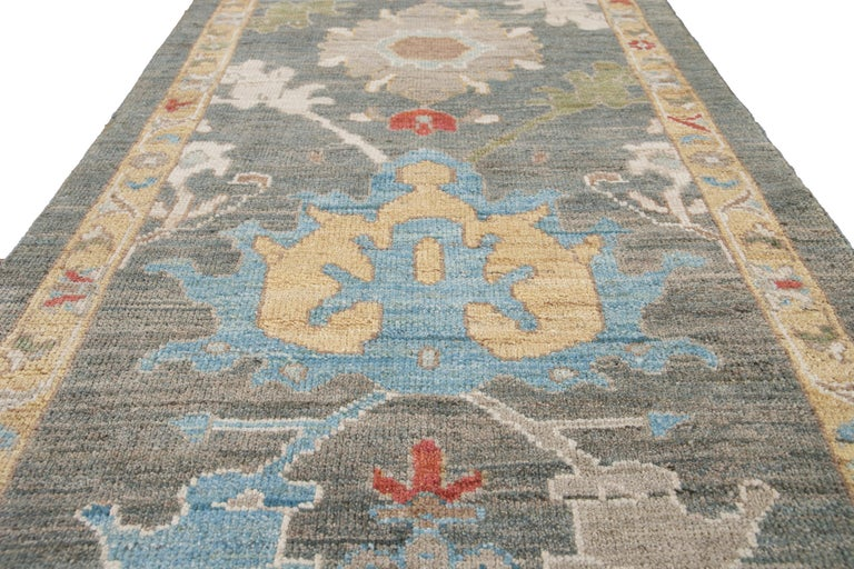 21st Century Modern Sultanabad Wool Runner For Sale 5