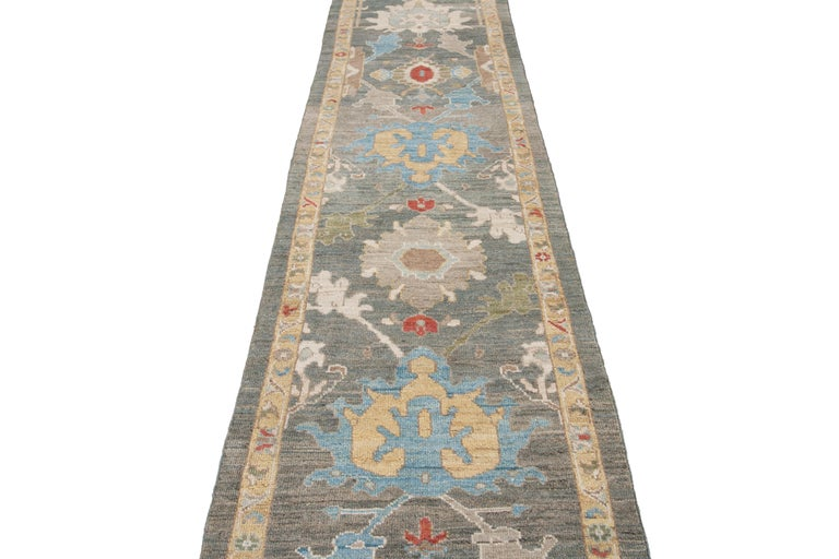 21st Century Modern Sultanabad Wool Runner For Sale 6