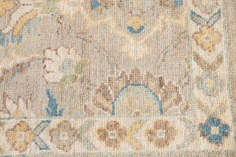 21st Century Modern Sultanabad Wool Runner Rug For Sale 4