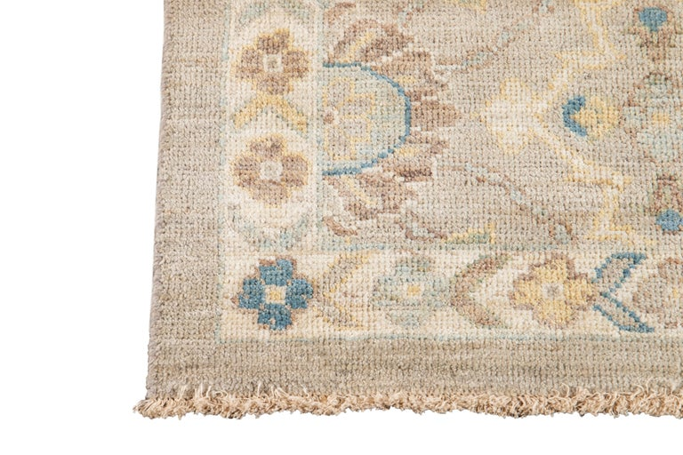 21st Century Modern Sultanabad Wool Runner Rug For Sale 7