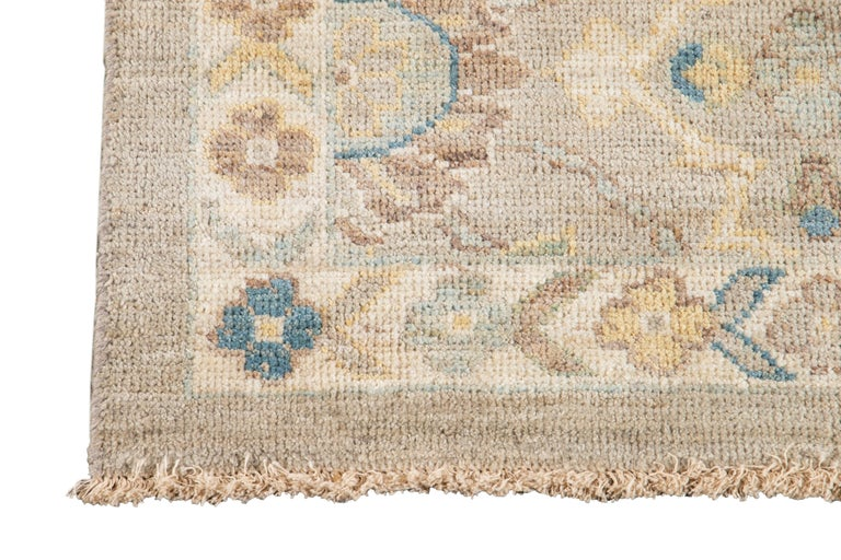 21st Century Modern Sultanabad Wool Runner Rug In New Condition For Sale In Norwalk, CT