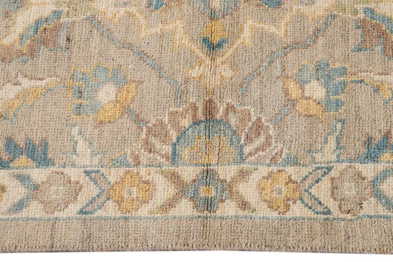 21st Century Modern Sultanabad Wool Runner Rug For Sale 3