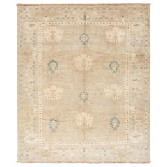 21st Century Modern Sultanabad Wool Square Rug