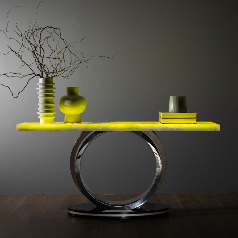 21st Century Modern Turim Console Handcrafted in Portugal by Greenapple For Sale 1