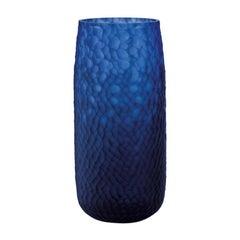 """21st Century Modern Vase in Murano's Handblown Glass """"Battuto"""", by Salviati"""