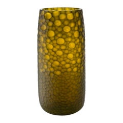 "21st Century Modern Vase in Murano's Hand Blown Glass ""Battuto"", by Salviati"
