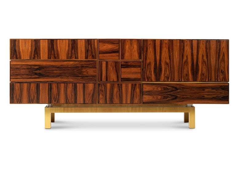 """Mies van der Rohe once said """"God is in details"""" and it is with high precision and refined details that the Moduler sideboard seduces and thrills. In this allusion to the work of the architect, the design of this piece leads us to the remarkable work"""
