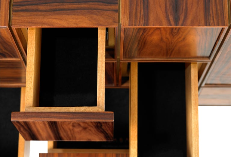 Portuguese 21st Century Moduler Sideboard Ironwood For Sale