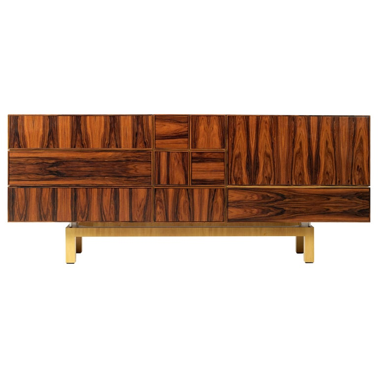 21st Century Moduler Sideboard Ironwood For Sale